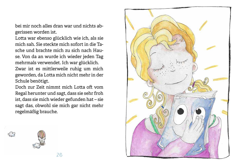 Buchseiten: Lotta und das verschwundene Buch