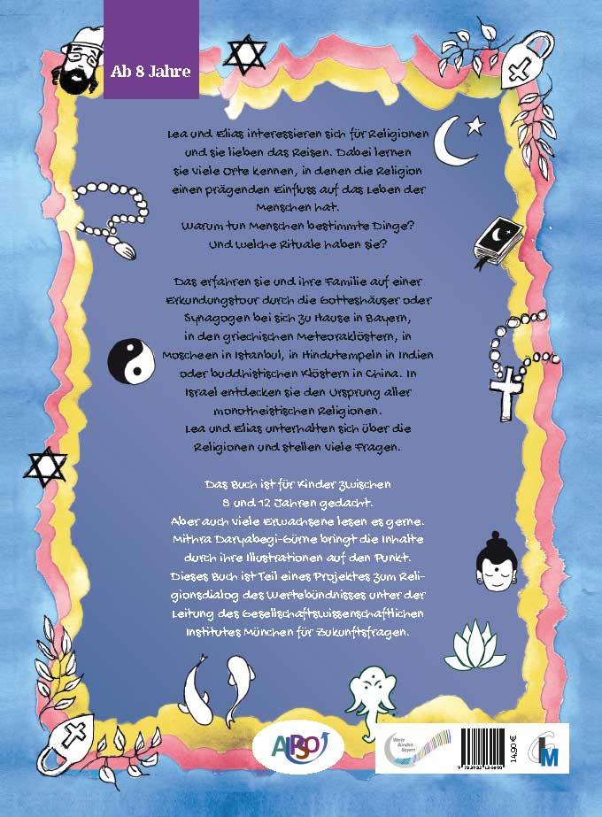Rückseite: ine kleine Reise durch die Religionen