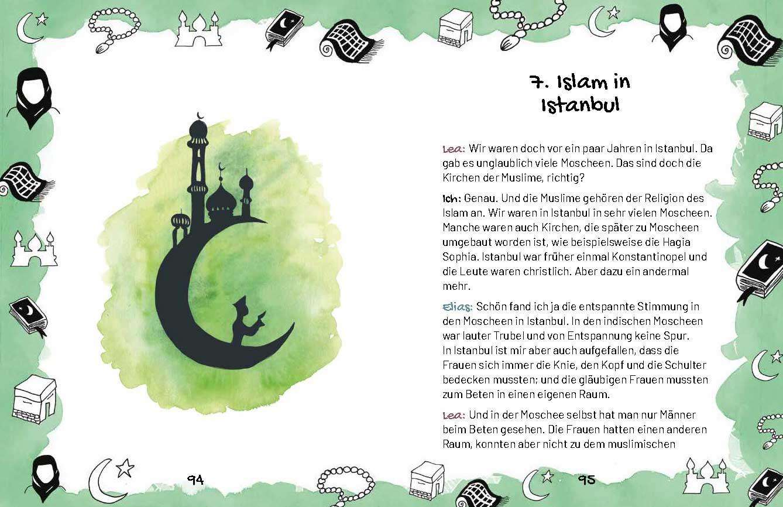 Buchseite: ine kleine Reise durch die Religionen